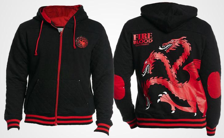 Targaryen Fire and Blood Retro Hoodie - Game of Thrones hoodies