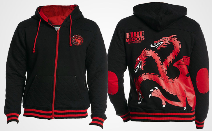 Targaryen Fire and Blood Retro Hoodie - Game of Thrones hoodies
