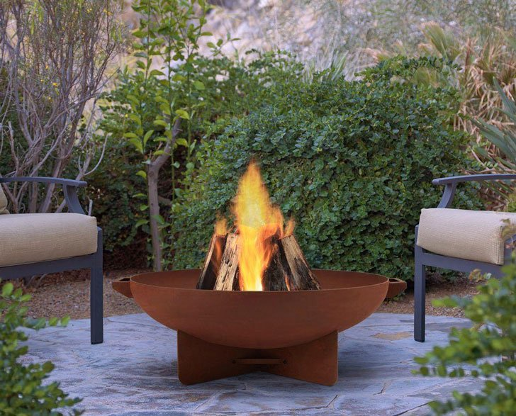 "The 32"" Round Rust Anson Fire Pit - cool fire pits"
