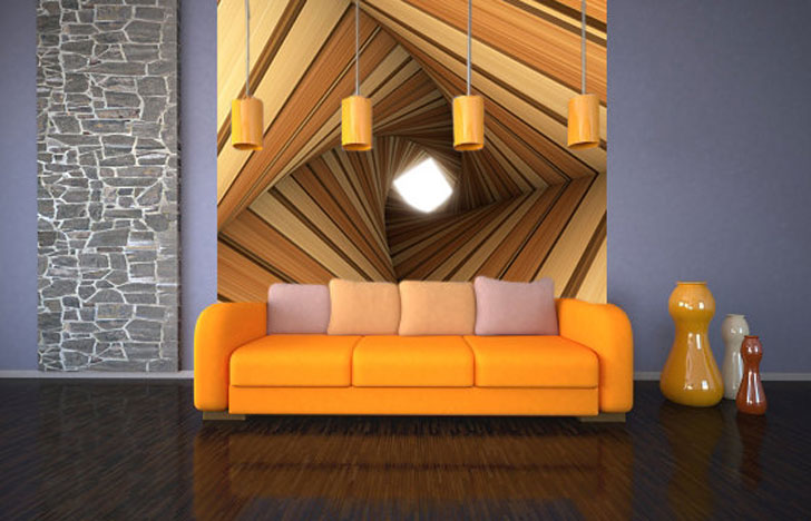 The 3D Tunnel Wall Decal