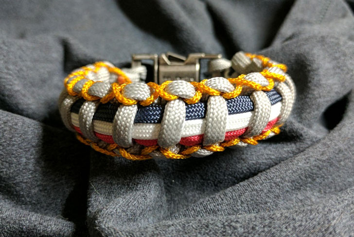 The Patriot 4th of July Paracord Bracelet
