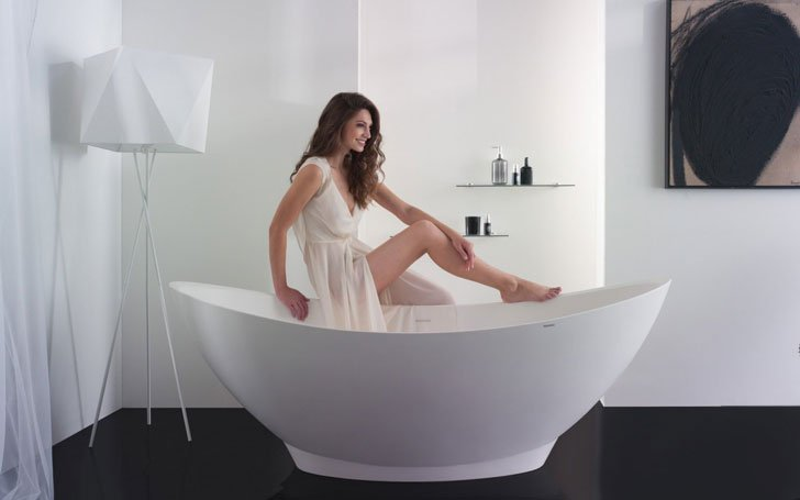 The PureScape AquateX™ 621 Freestanding Stone Bathtub