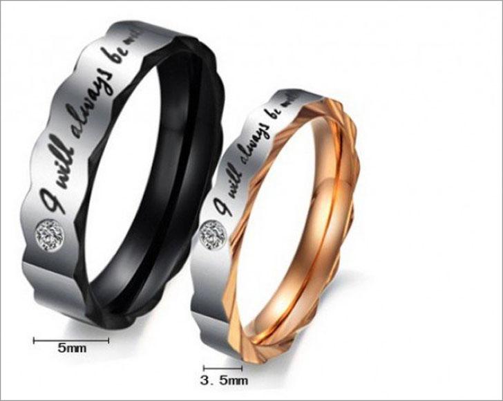 Titanium Steel Couples Rings