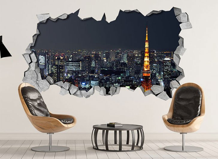 Tokyo Wall Art. For A Beautiful Representation Of Tokyo Appearing  Absolutely Magnificent Bathed In Brilliant City Lights, Look No Further  Than This Cool 3D ...