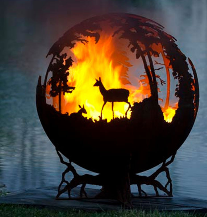 Up North Custom Made Sphere Fire Pit