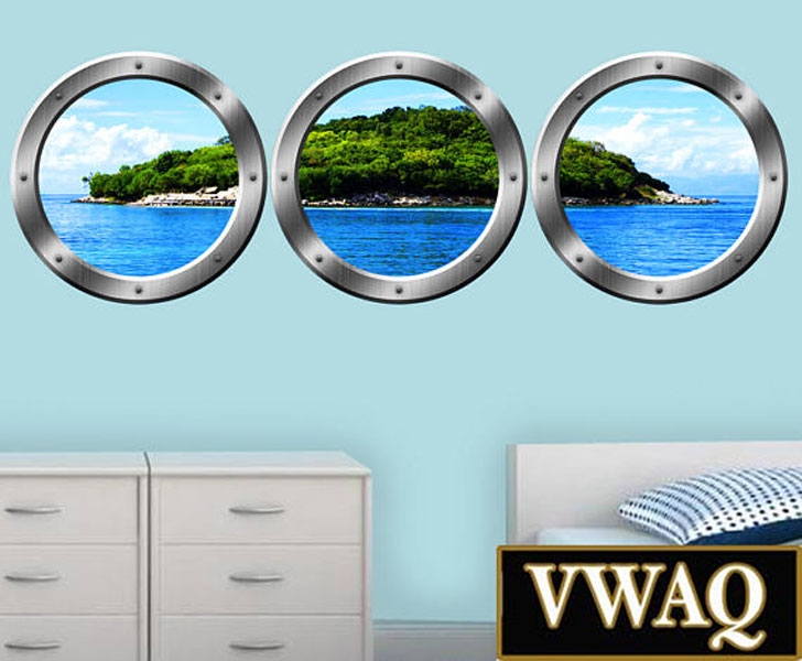 Wall Art Porthole Stickers