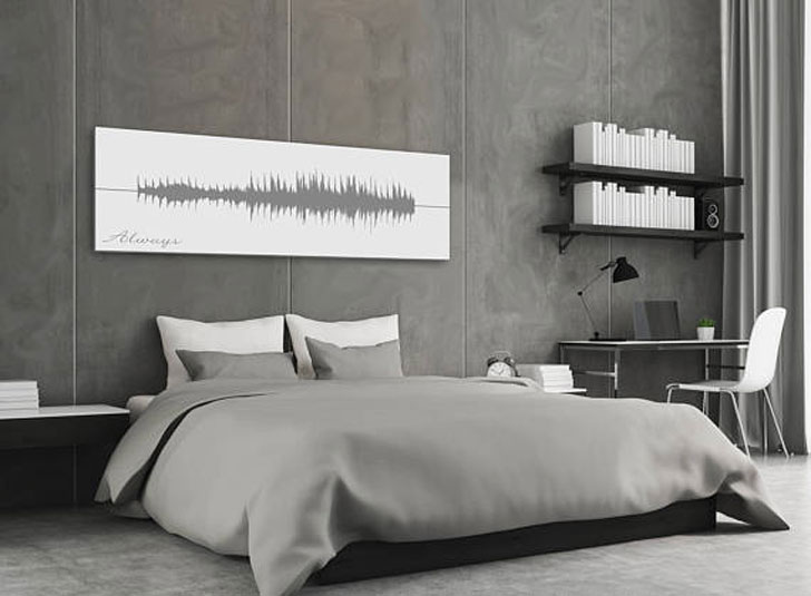 Wedding Song Sound Wave Canvas