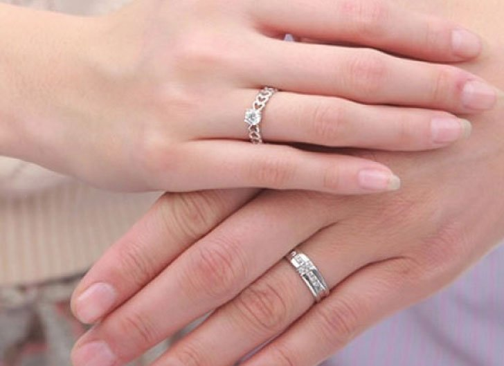 White Sapphire Couple Rings