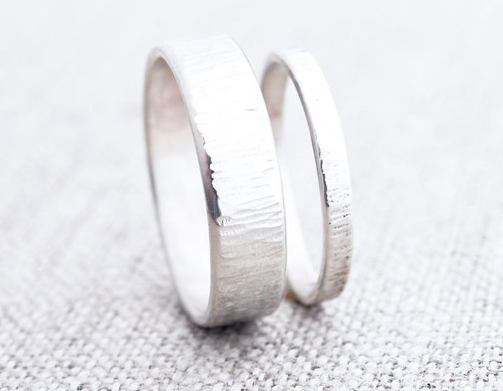 Wind and Water Matching Silver Bands