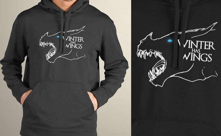 Winter Has Wings Hoodie - Game of Thrones hoodies