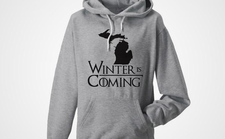 Winter Is Coming Map Hoodie