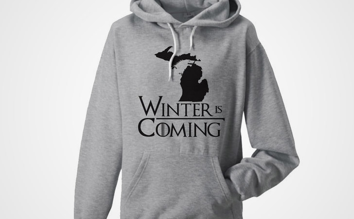 Winter Is Coming Map Hoodie