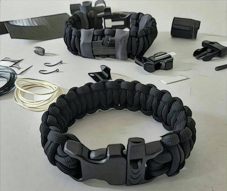 scout Slimline Minimalist Survival bracelet