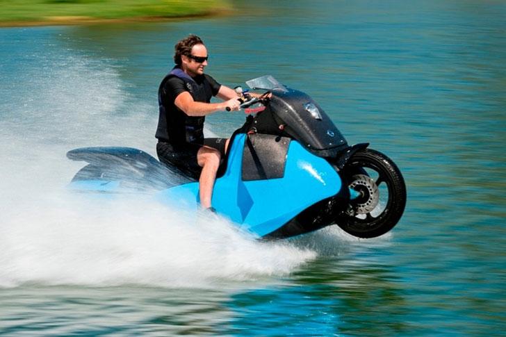 Amphibious Motorcycle Jet Ski Hybrid - Amphibious Vehicles
