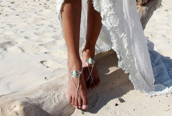 Aquarius Barefoot Turquoise Sandals