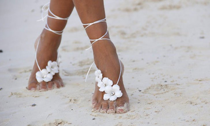 61877a82d1f44 30 Barefoot Beach Wedding Sandals For Brides   Bridesmaids!