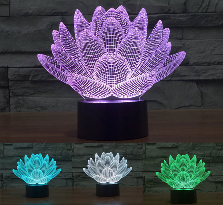 Blooming Lotus Desk Lamp