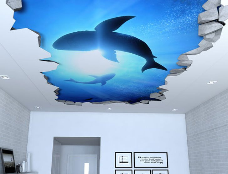 Blue Sky Ceiling Art Decals