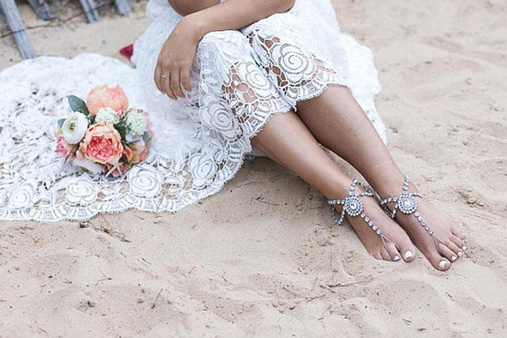 Boho Bride Beach Wedding Sandals