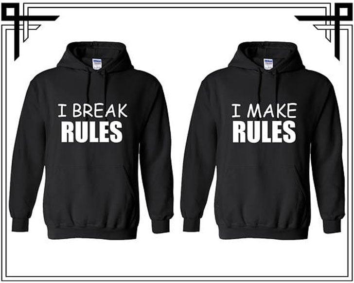 Break and Make Rules Hoodies