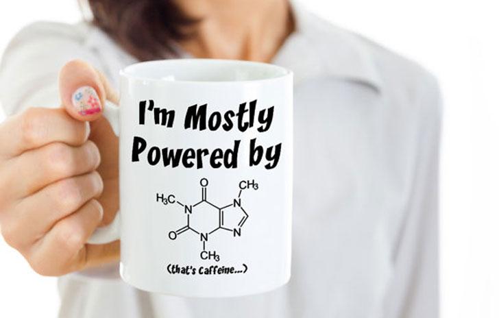Caffeine Molecule Mug - Funny Coffee Mugs