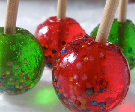 Candy Apple Lollipops
