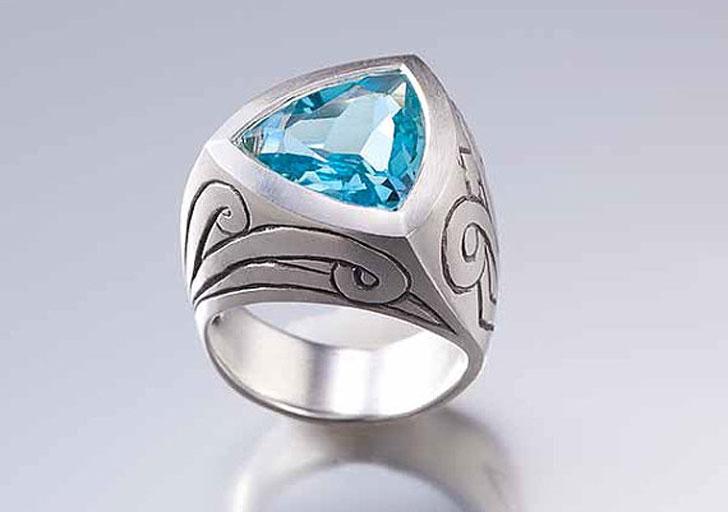Celtic Statement Gemstone Ring
