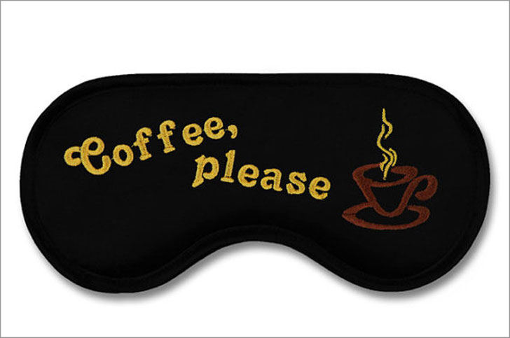 Coffee Please Eye Mask