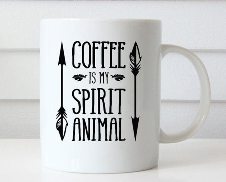 Coffee is My Spirit Animal Coffee Mug