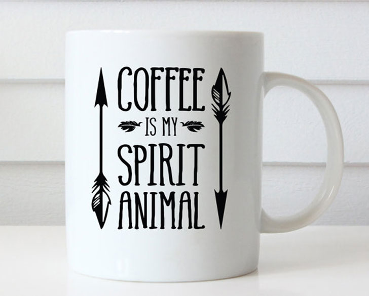Coffee is My Spirit Animal Coffee Mug