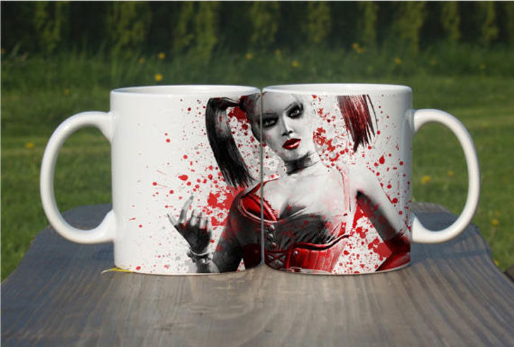 Color Changing Harley Quinn Coffee Mug Set - Funny Coffee Mugs