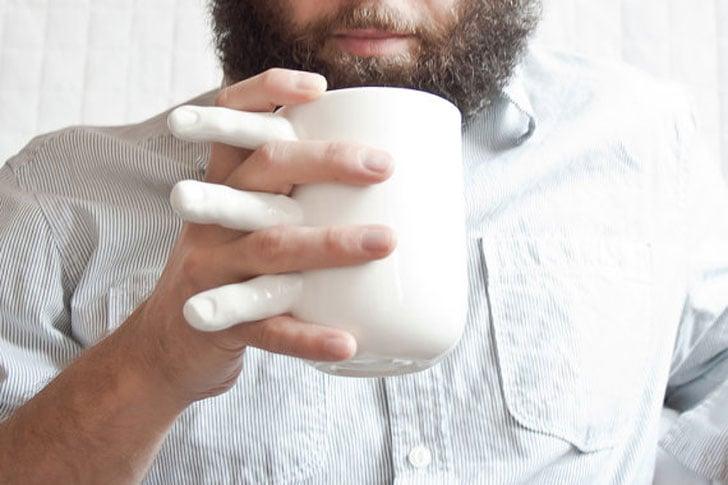 Creepy Holding Hands Coffee Mugs