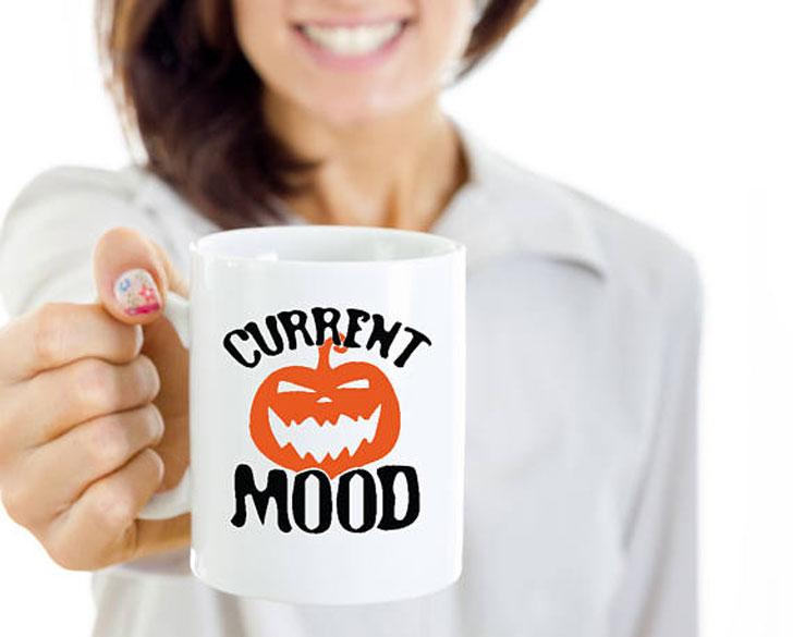 Current Mood Pumpkin Halloween Mug