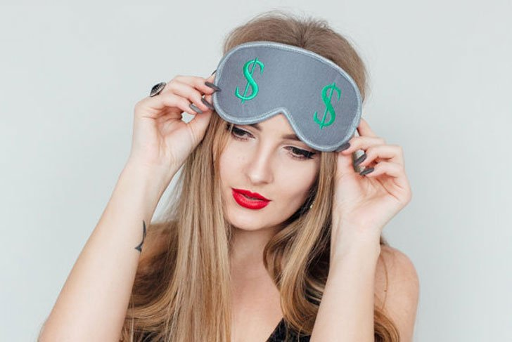 Dollar Sign Sleep Mask
