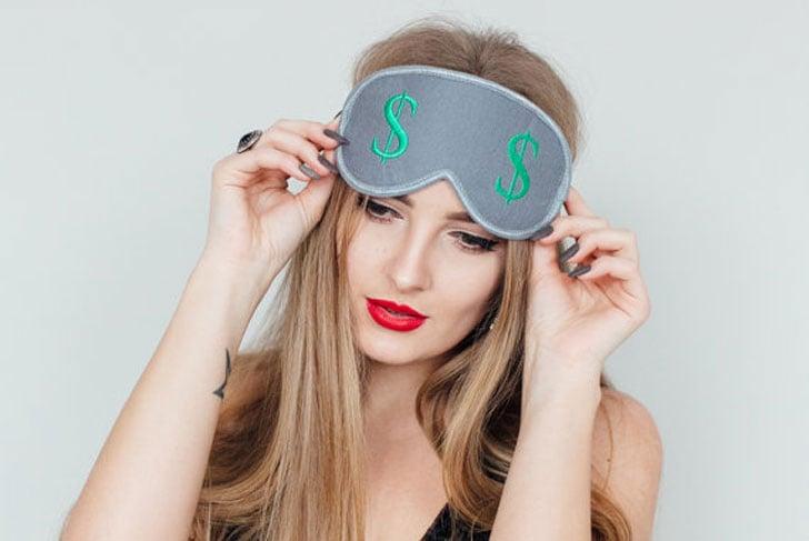 Dollar Sign Sleep Mask