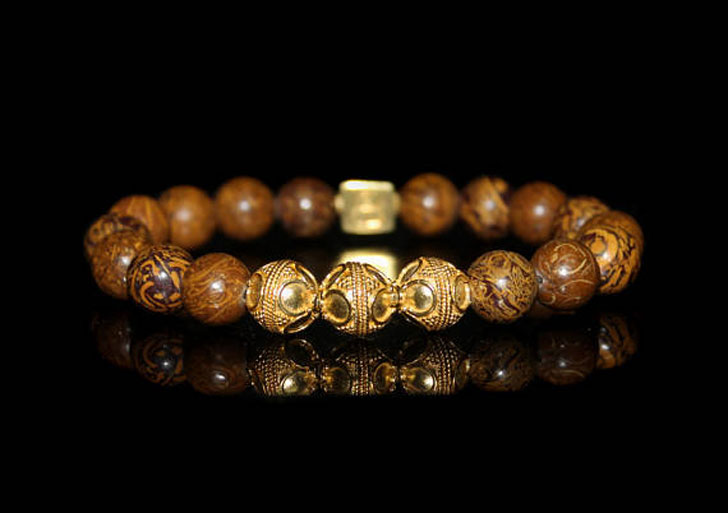 Elephant Skin Jasper Bracelet Men S Beaded