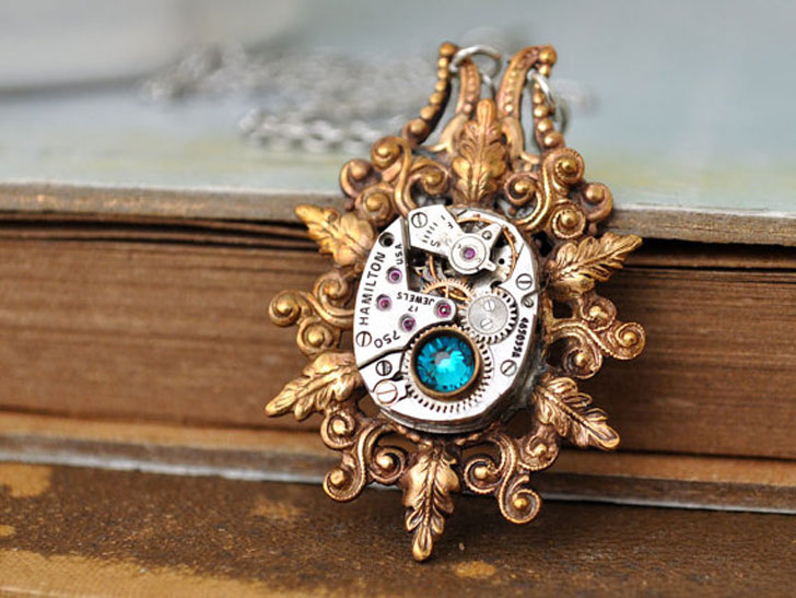 Enchanted Forest Steampunk Necklace