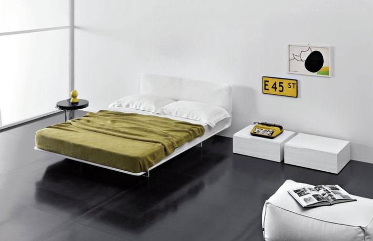 Filo Upholstered Platform Bed - hidden bed frames