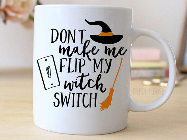 Flip My Witch Switch Halloween Mug
