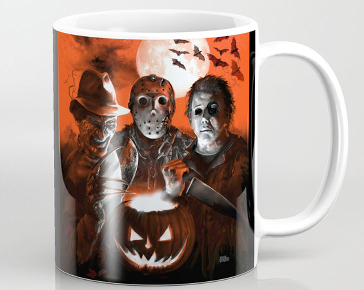 Freddy Krueger and Super Villains Coffee Mug