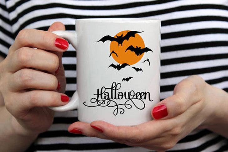 Full Moon Halloween Mug