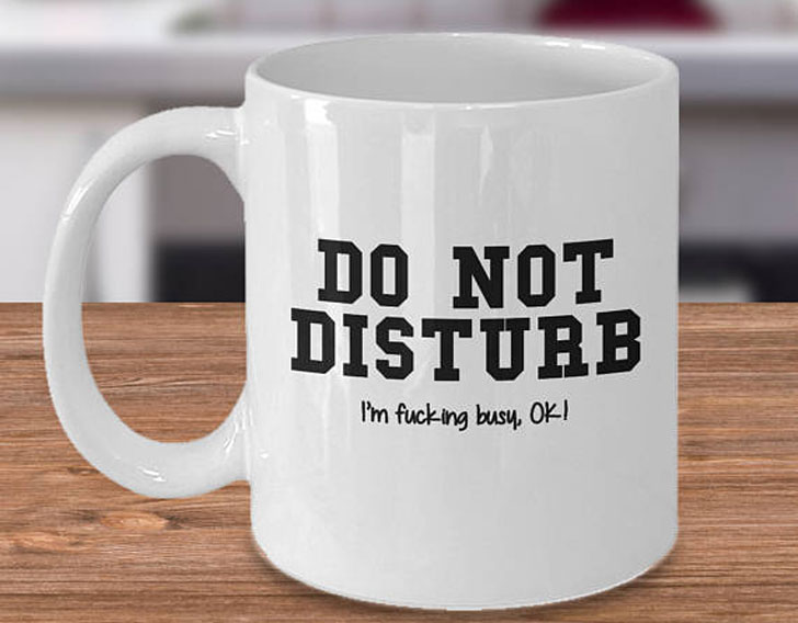 Funny Do Not Disturb Coffee Mug