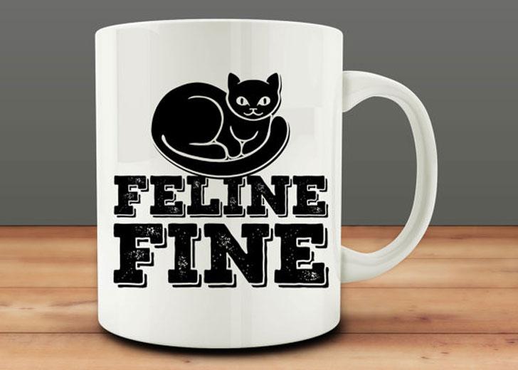 Funny Feline Cat Mug - Funny Coffee Mugs