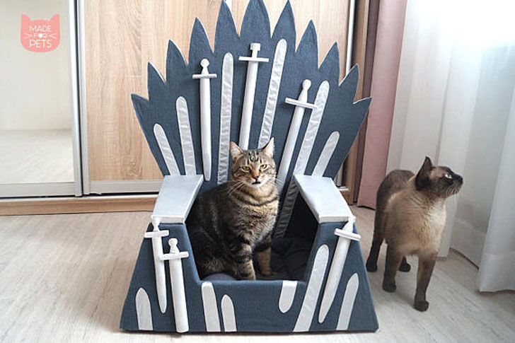 Game of Thrones Inspired Iron Throne Cat Furniture Bed