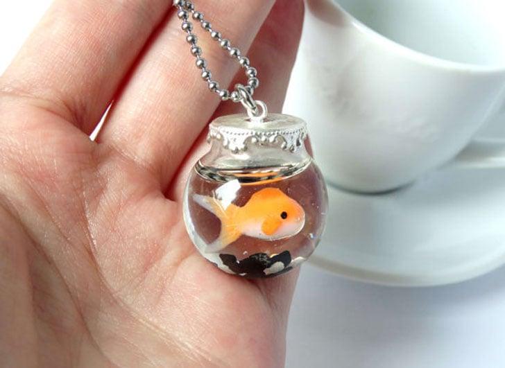 Goldfish Fishbowl Necklace - unusual necklaces