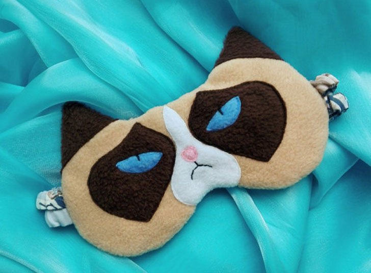 Grumpy Cat Eye Mask - Funny Sleeping masks