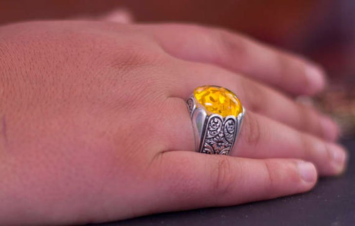 Handmade Sterling Silver and Amber Stone Ring