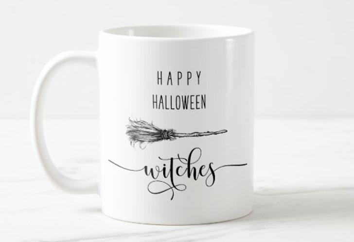 Happy Halloween Witches Mug