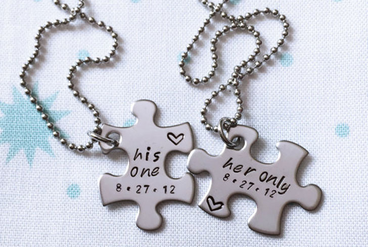 Her One & His Only Puzzle Couples Necklaces