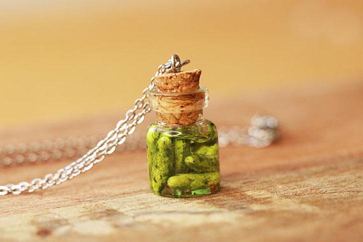 Jarred Pickle Necklace